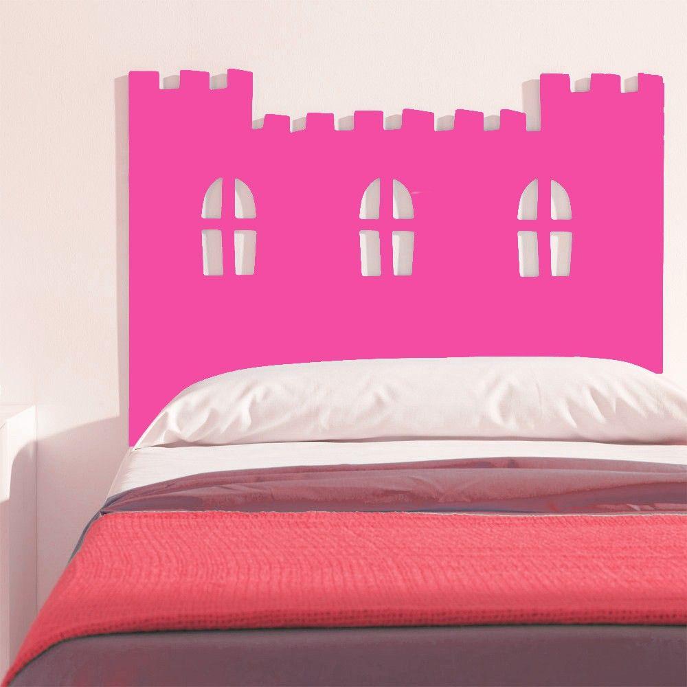 Cabecero cama infantil imaginaierro castillo rosa fucsia - Cabecero cama infantil ...
