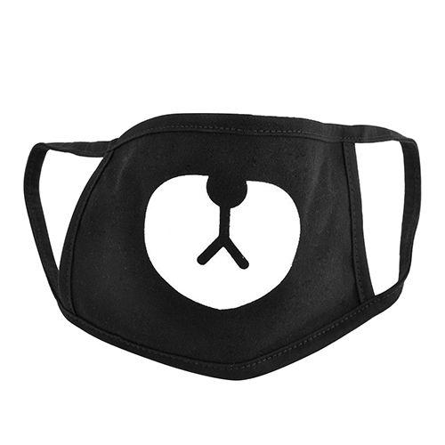 New unisex nero cute bear cotton mouth maschera respiratore per il ciclismo anti-polvere