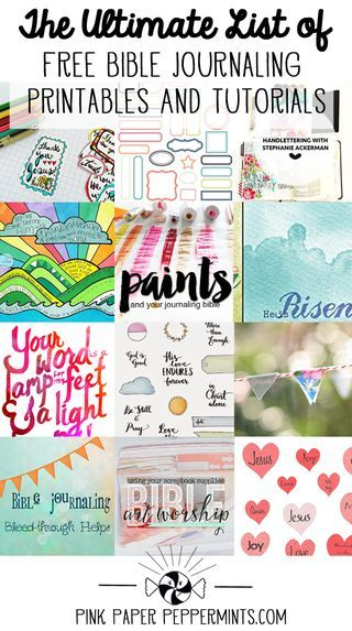 Free Bible Art Journaling Printables and Tutorials - The Ultimate... | Pink Paper Peppermints Sweet ♥ Crafty ♥ Goodness | Bloglovin'
