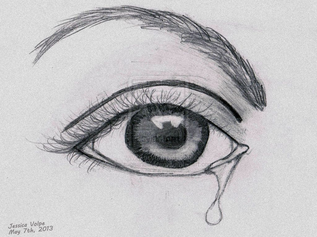 crying eye sadness sketch Falling tears in 2019