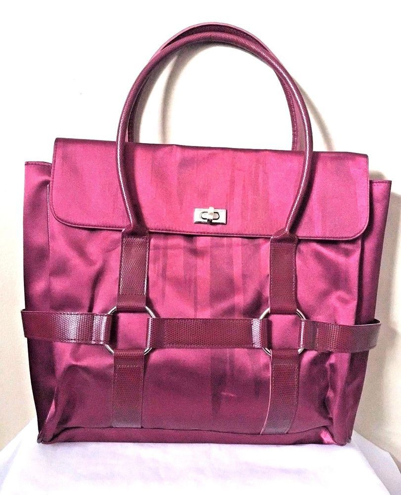 08035db3a7 Fashion Laptop Maroon Womens Satin Business Briefcase Bag | Stuff to ...