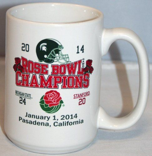 Michigan State Spartans 2014 Rose Bowl Champions 15oz Coffee Mug 2nd