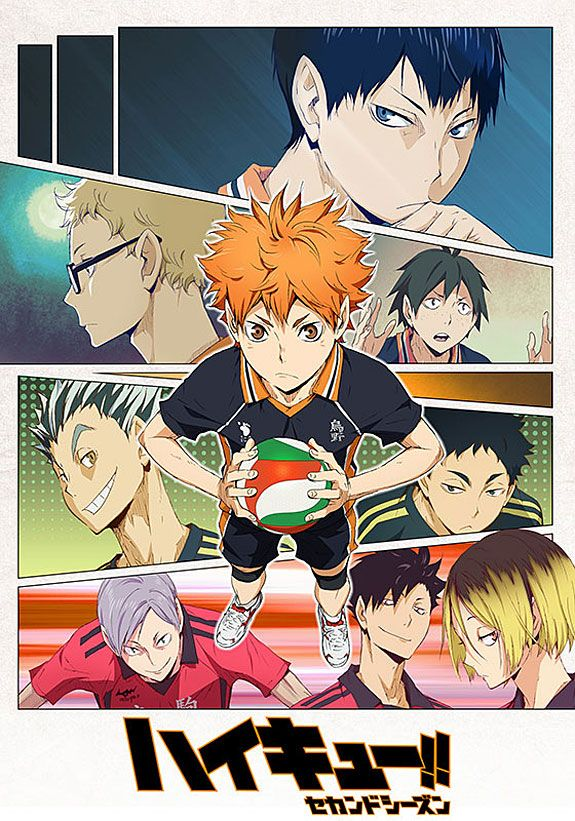 Haikyuu!! 2nd Season /// Genres Comedy, Drama, School