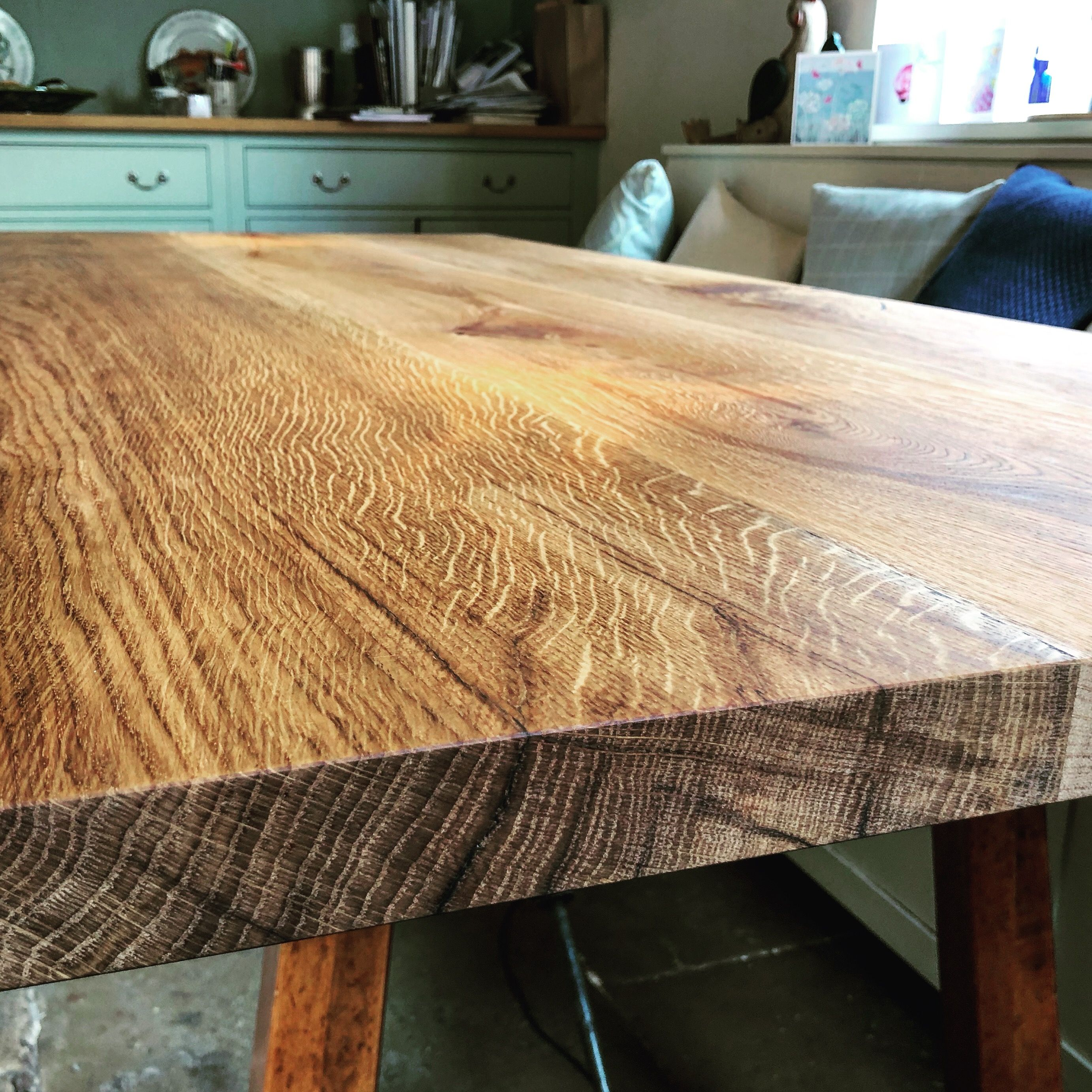Oak Table Top by Earthy Timber UK   Rustic wood kitchen tables ...
