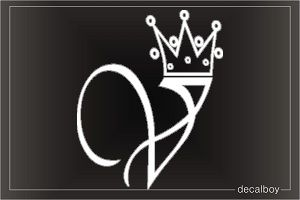 Crown Letter V Initial Decal Alphabet Tattoo Designs Tattoo Lettering V Letter Tattoo