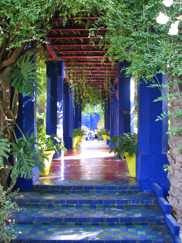 Majorelle Marrakech Maroc Maroko Pinterest