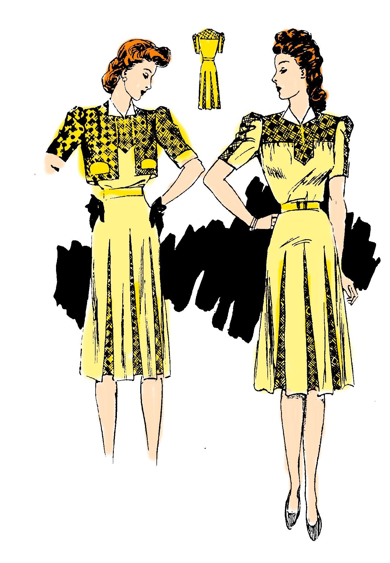 Schnittmuster Kleid Modell 1941 - goldene Schnitt (14) | Nähen ...