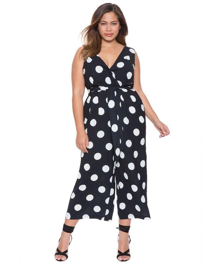 Studio Printed Wrap Jumpsuit Dots