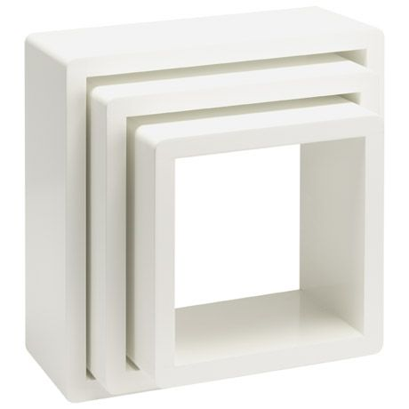 Rollo Wall Display Cubes Set of 3 Freedom Furniture and Homewares