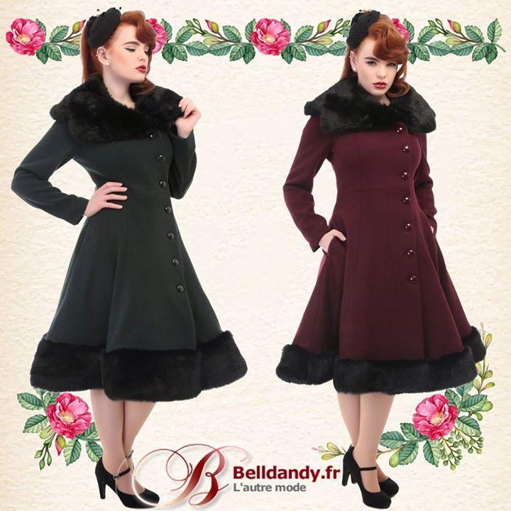 pr parez l 39 hiver avec nos nouveaux manteaux en laine m lang e manteau pin up r tro vintage 50s. Black Bedroom Furniture Sets. Home Design Ideas