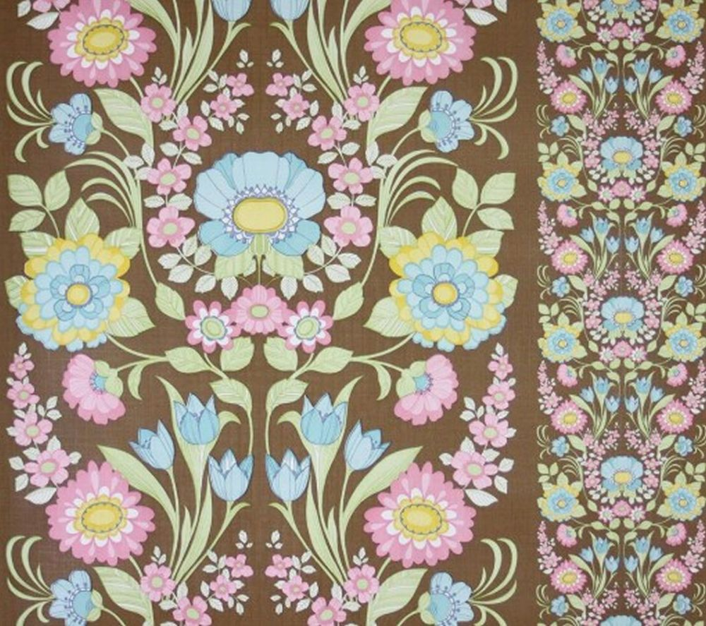 Details About Anthrozania Vintage Flowers Wallpaper Retro