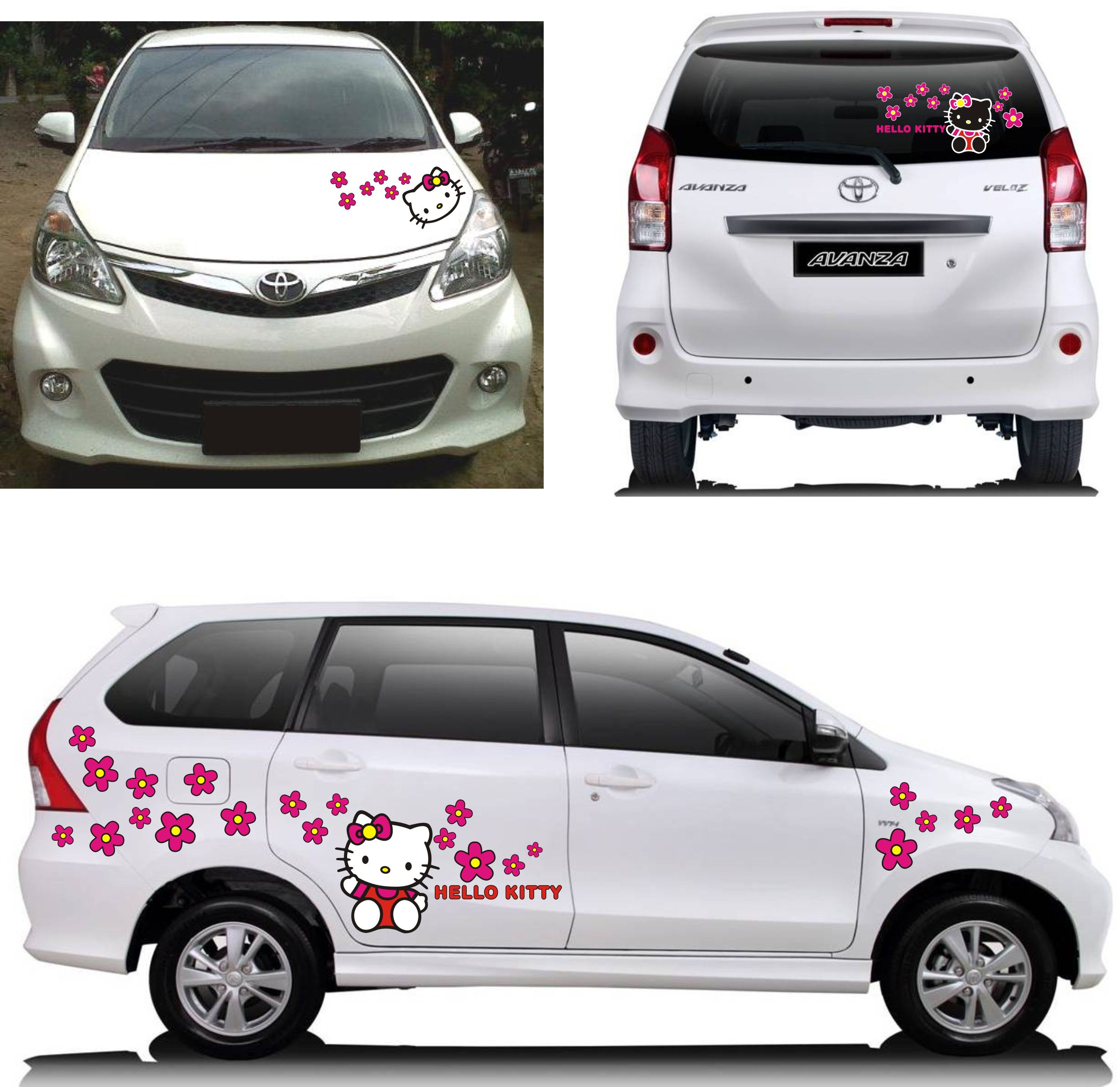 Ukuran Grand New Avanza Bemper Depan Veloz Toyota Hello Kitty Sticker Concept Cutting Arts