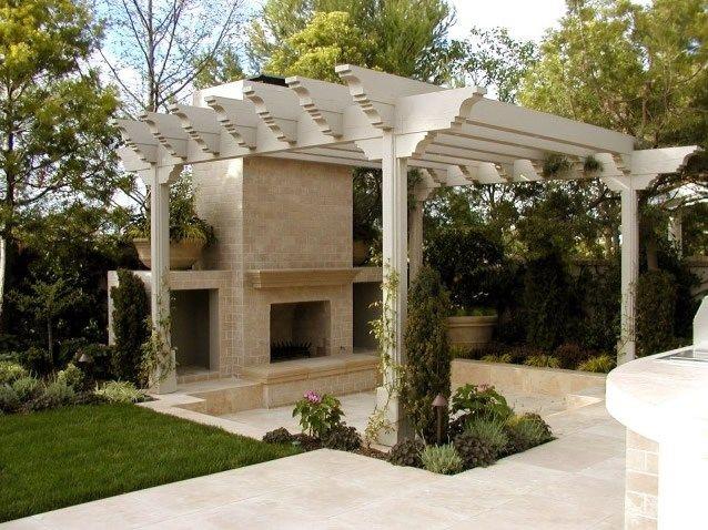 pergola and fireplace pergola and patio cover ams landscape design