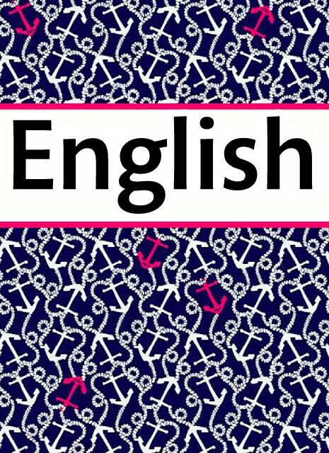 English binder cover School Pinterest Binder, English and School - english binder cover