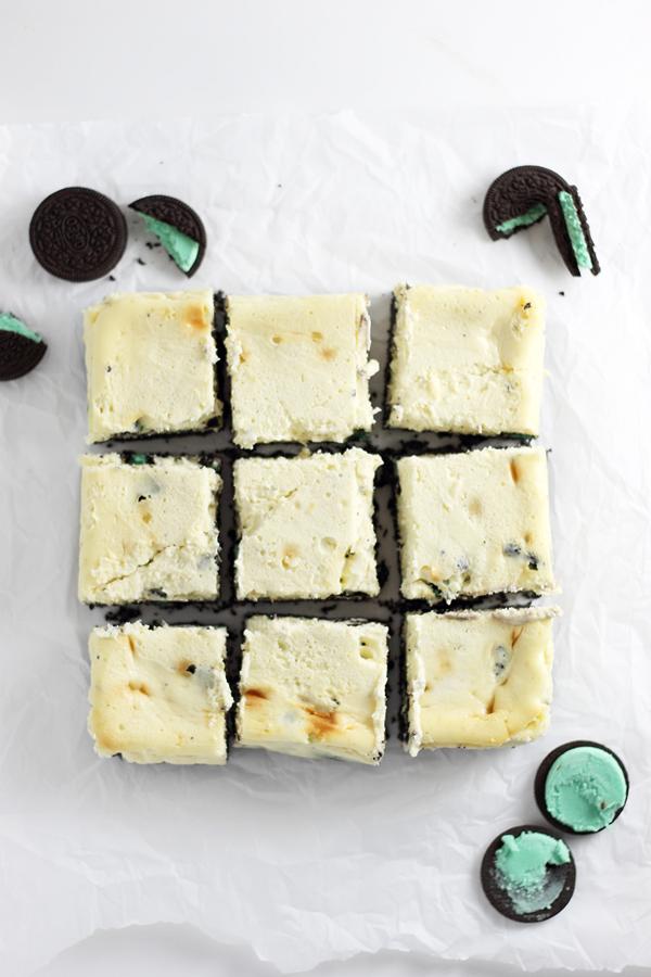 Mint Oreo Cheesecake Bars