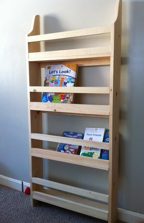 Make Your Own Wall Book Rack From Pine Boards Inspired By
