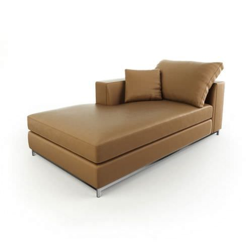 Brown Leather Sofa 3D model