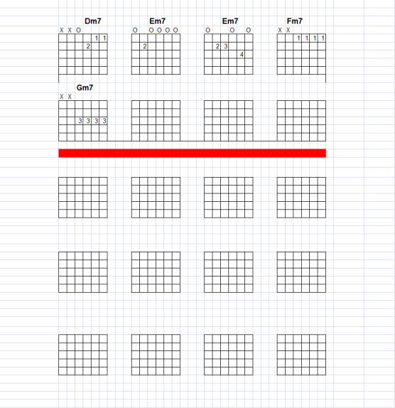 Make your own chord charts for guitar using an Excel
