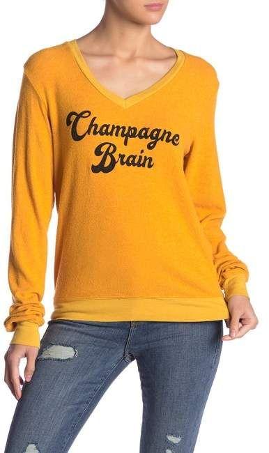 0e07a73f10 WILDFOX   Champagne Brain Baggy Beach Jumper in 2019   Products ...