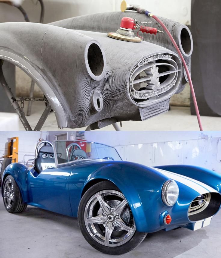 For Shelby Cobra S 50th Designers Print A Working 3d Replica
