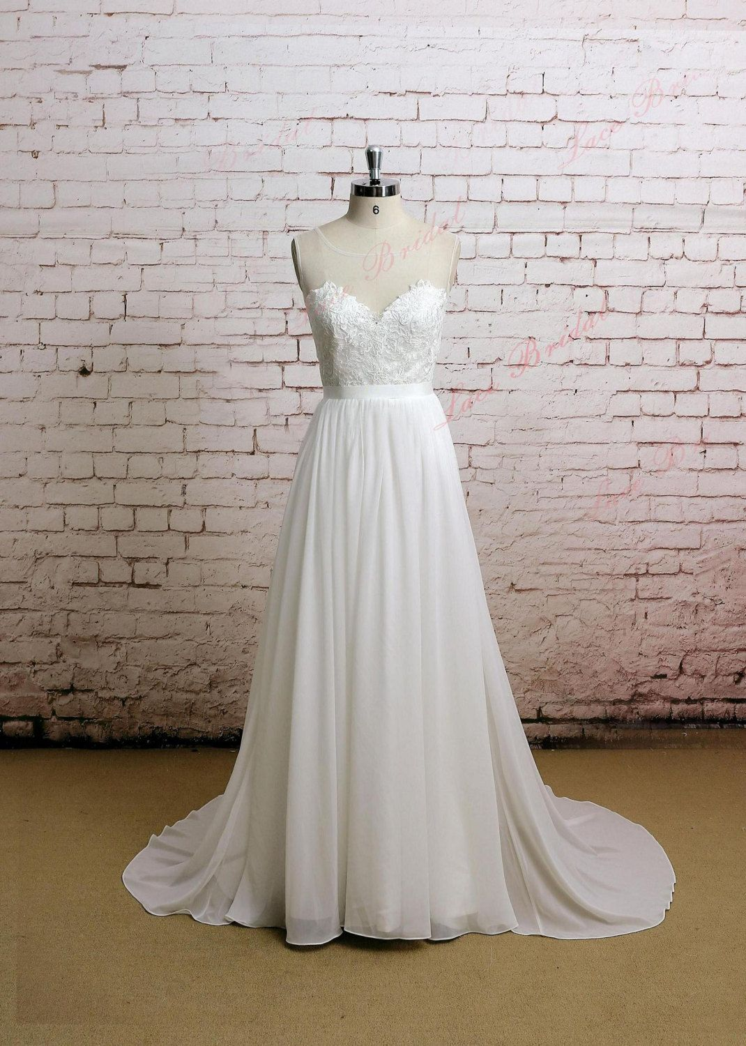 Backless Wedding Dress Sexy Wedding Dress Lace by LaceBridal, $259.00