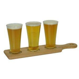 Beer Tasting Paddle Three Glass 200ml   Barware.com.au | Bar Accessories |