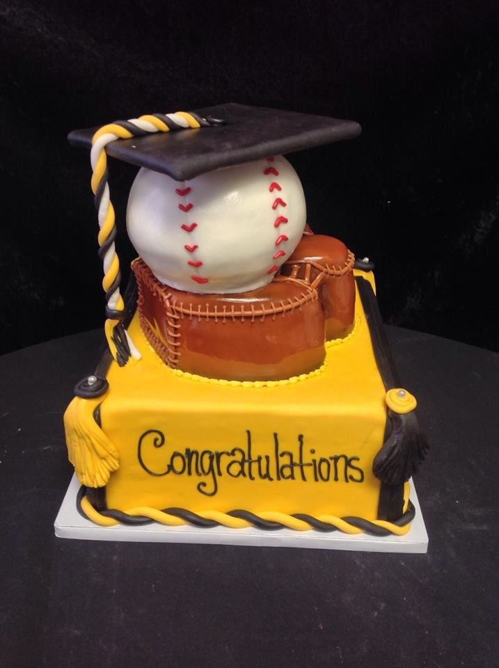 Cookie Jar Bakeshop I Custom Cakes Baseball Graduation Cake Themed With Cap Tassel