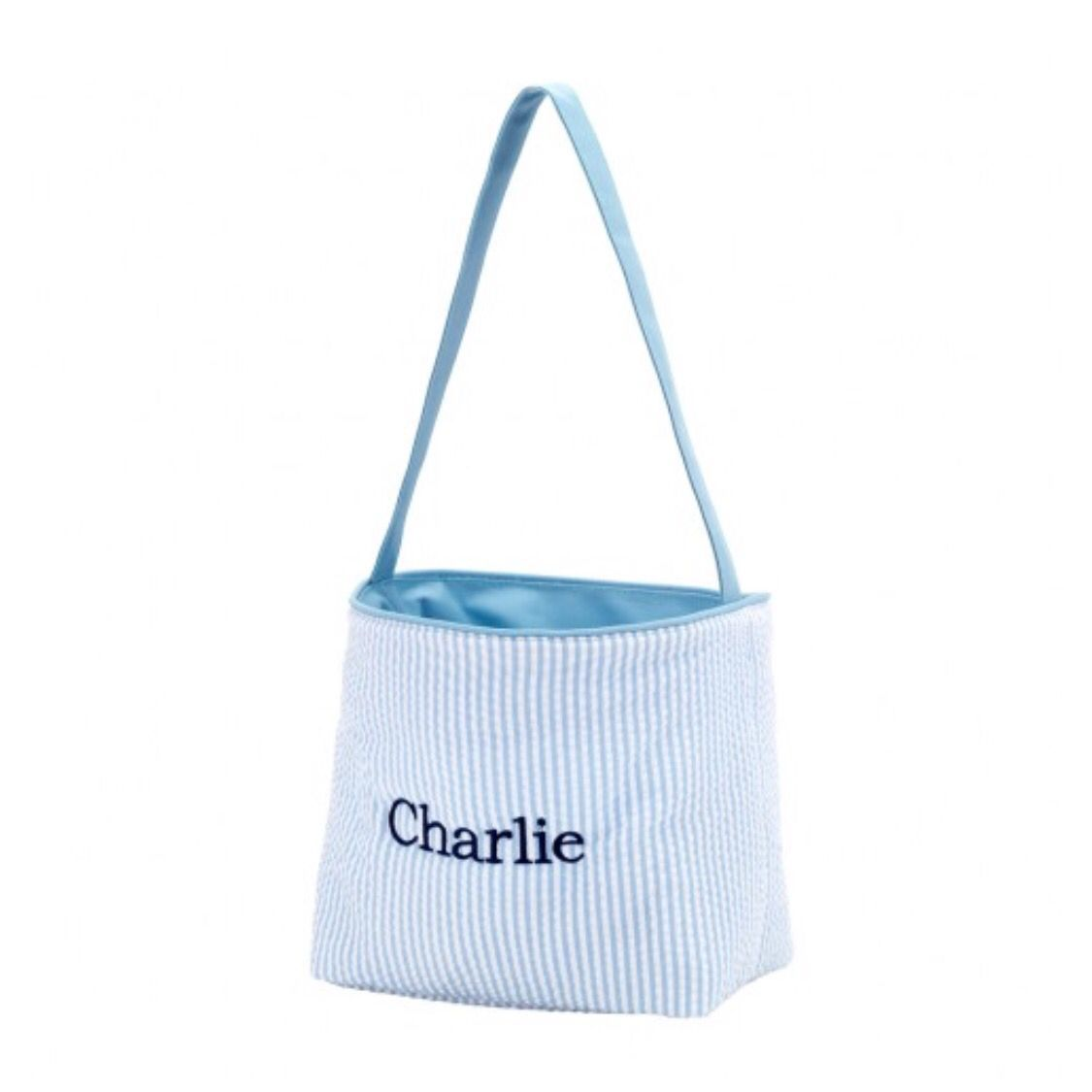 Wholesale boutique easter basket blue seersucker seersucker and wholesale boutique easter basket blue seersucker negle Images
