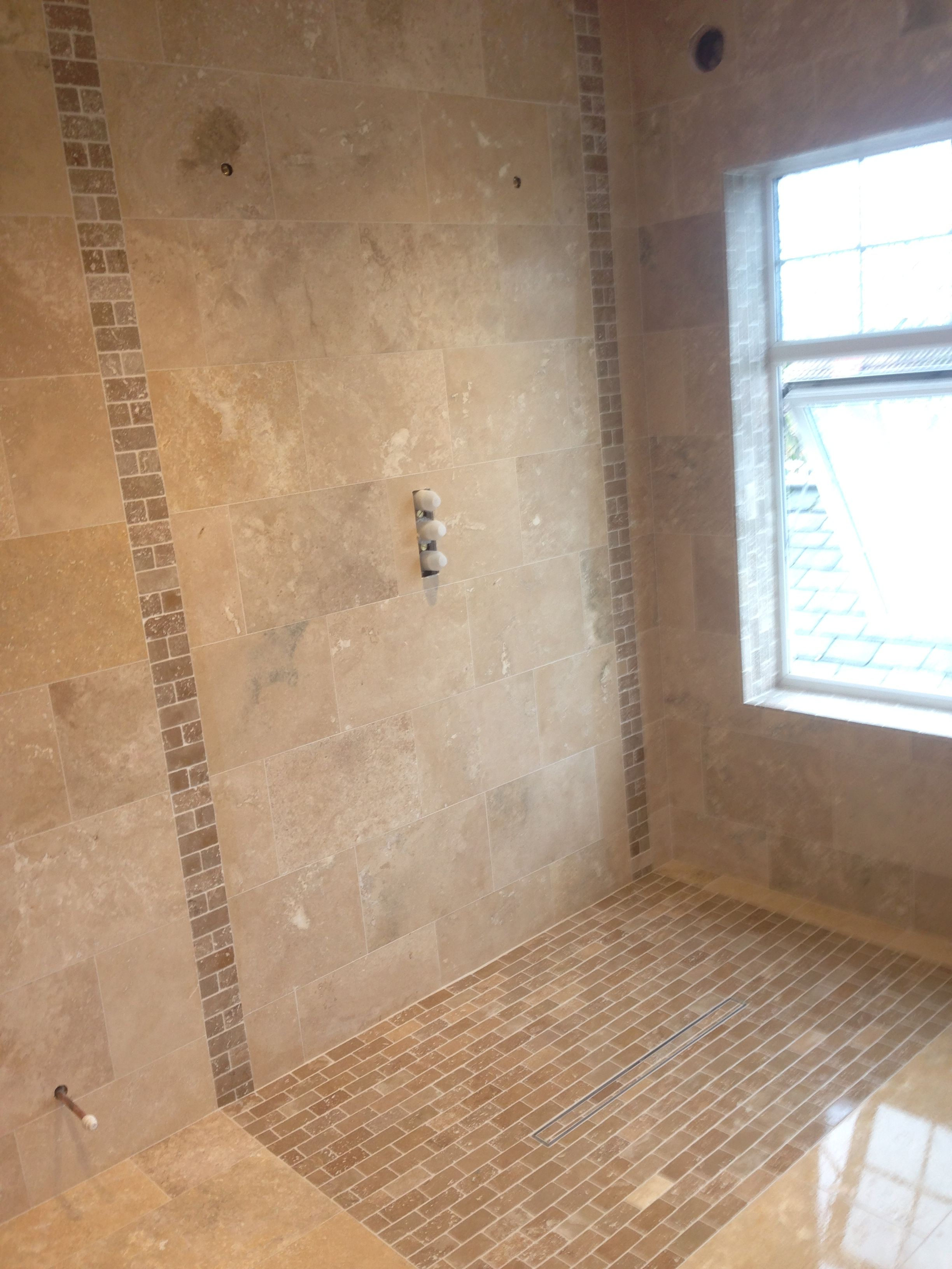 Travertine Wet Room Timeless Colours Shower Tile Travertine