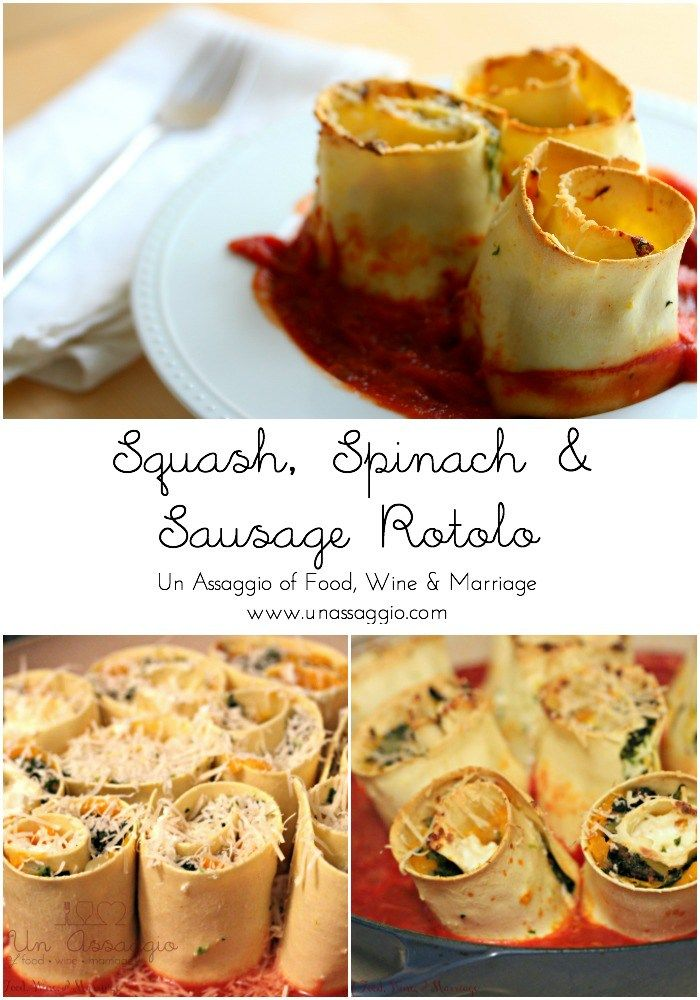 Squash spinach sausage rotolo adapted from jamie olivers squash spinach sausage rotolo un assaggio of food wine marriage forumfinder Gallery