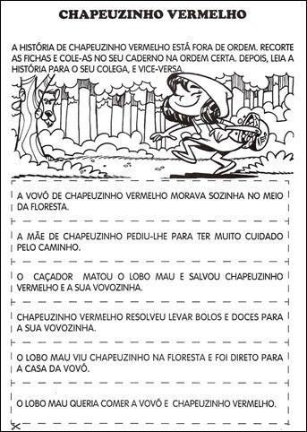 Texto Fatiado Chapeuzinho Vermelho Atividades De Alfabetizacao