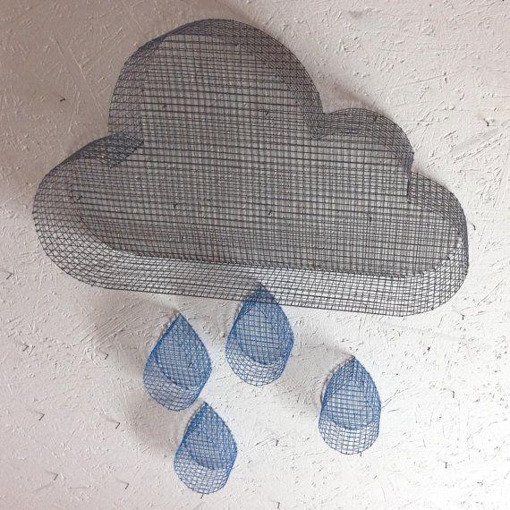 Lotto maglia decorativo gocce nube e acqua di LaFabriquealettres