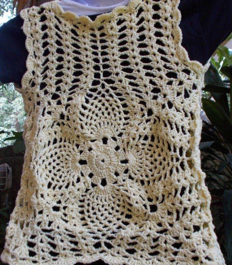 Sweet Nothings Crochet: CUTE PINEAPPLE BOLERO | blusas a crochet ...