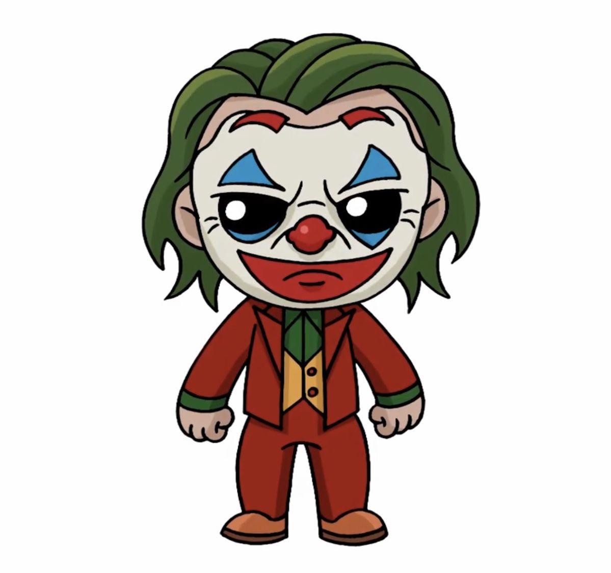 Baby New Joker Svg Layered The Joker Movie Poster Print Etsy Joker Cartoon Cartoon Drawings Joker Drawings