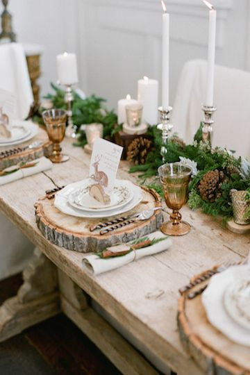 Fresh Table Setting for Round Table