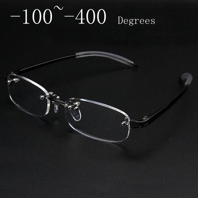 Novo Sem Moldura óculos de miopia Óculos de Armação Homens Mulheres Quadro  Miopia Óculos Sem Aro 567beb6e9a