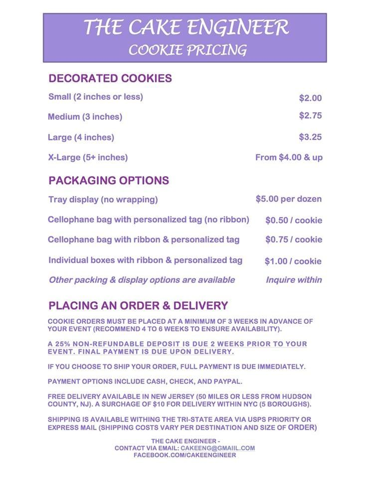 My Cookie Pricing Menu In The TriState Area HereS All The Info