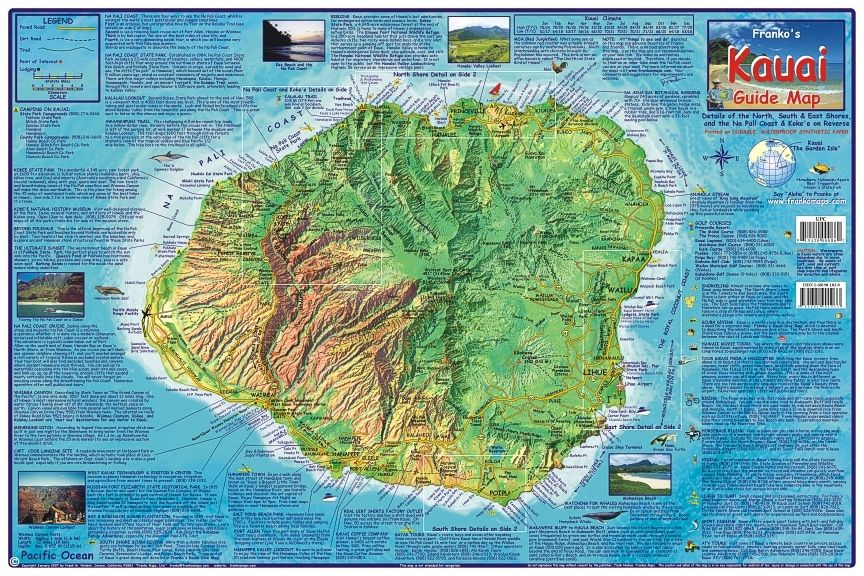 Kauai Guide Map 2Pedal Mountain Bike Maps and Guide Books