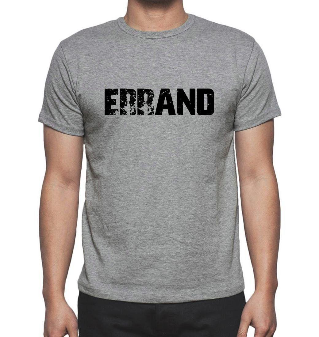 ERRAND, Grey, Men's Short Sleeve Rounded Neck T-shirt
