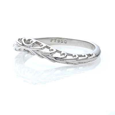 Unique Vintage Wedding Bands Curved Replica Filigree Band