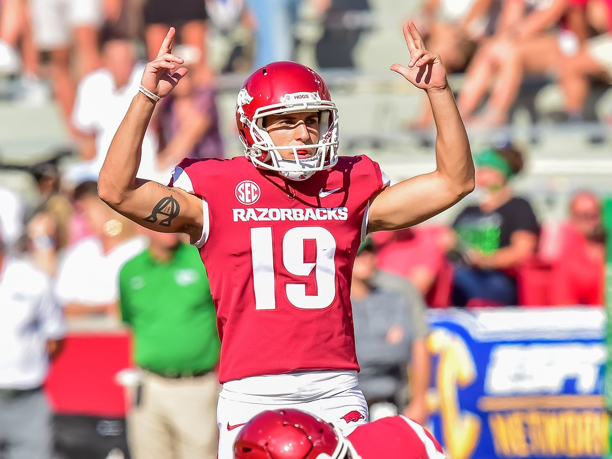 Connor Limpert Most Accurate Kicker In Razorback History Officially With Images Kicker Razorbacks Arkansas