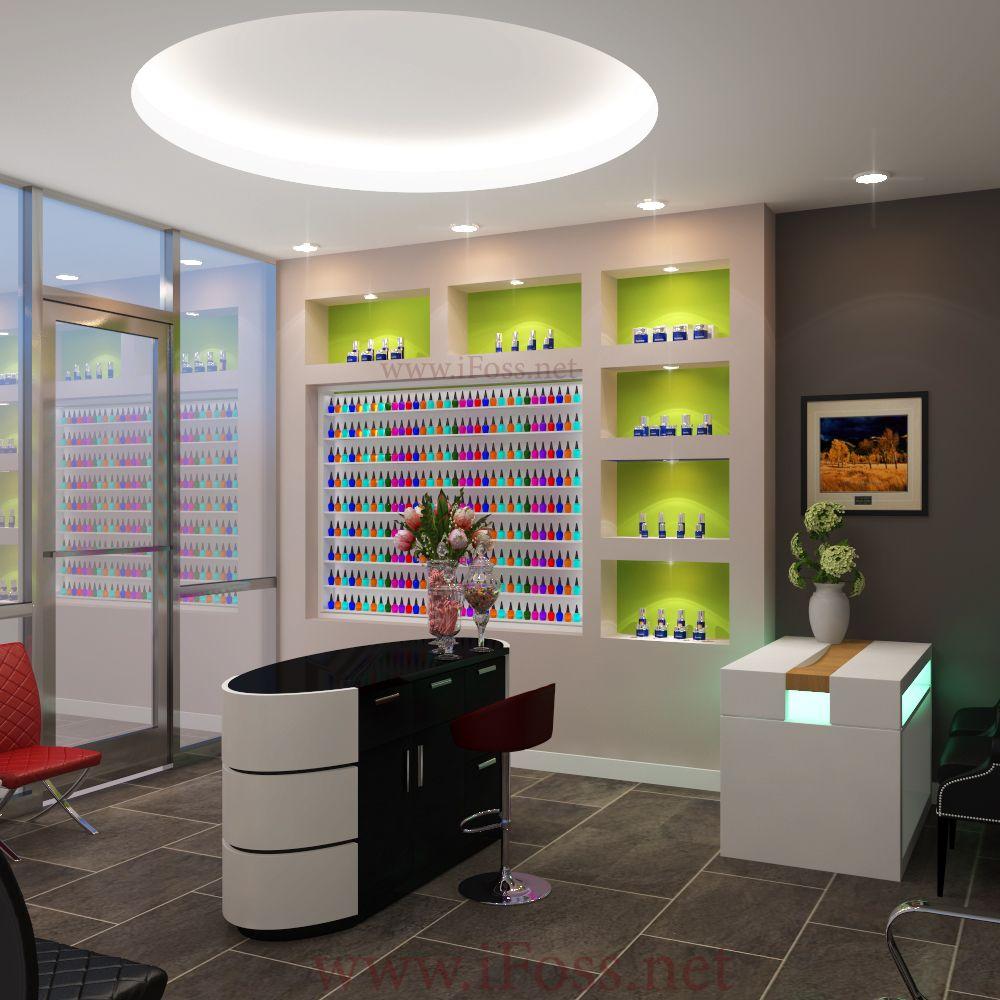 Nail salon design by ifoss contact 7145567895 or web ifossinc address - Bar salon design ...