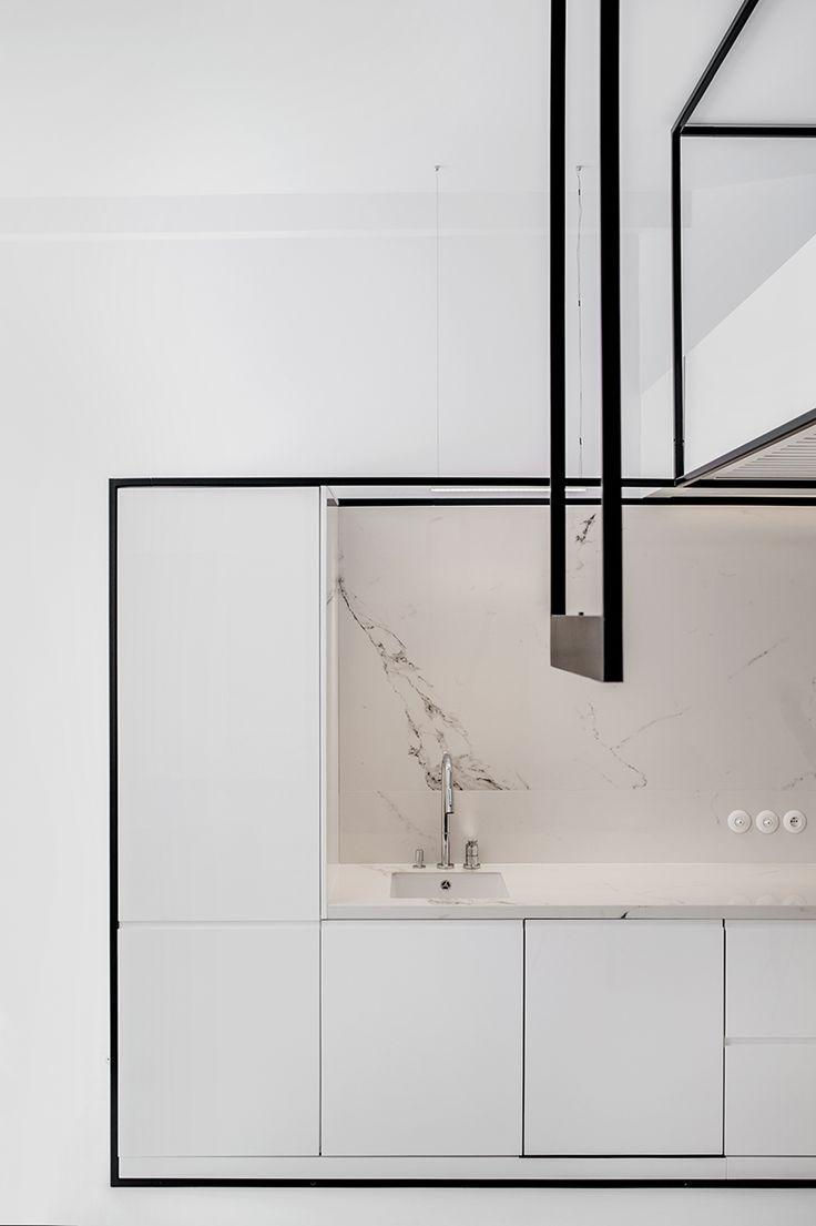 Küchen design hotel mus architectsu wireframe apartment in cracow is designed to adjust
