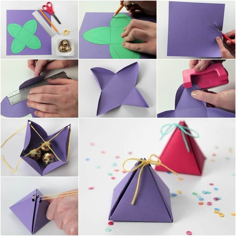 Here Is A Nice Tutorial To Make An Easy Fold Mini Gift Box Isn T It Cute You Can Pack With Snacks Cans Stationery And Any Other Small Gifts For