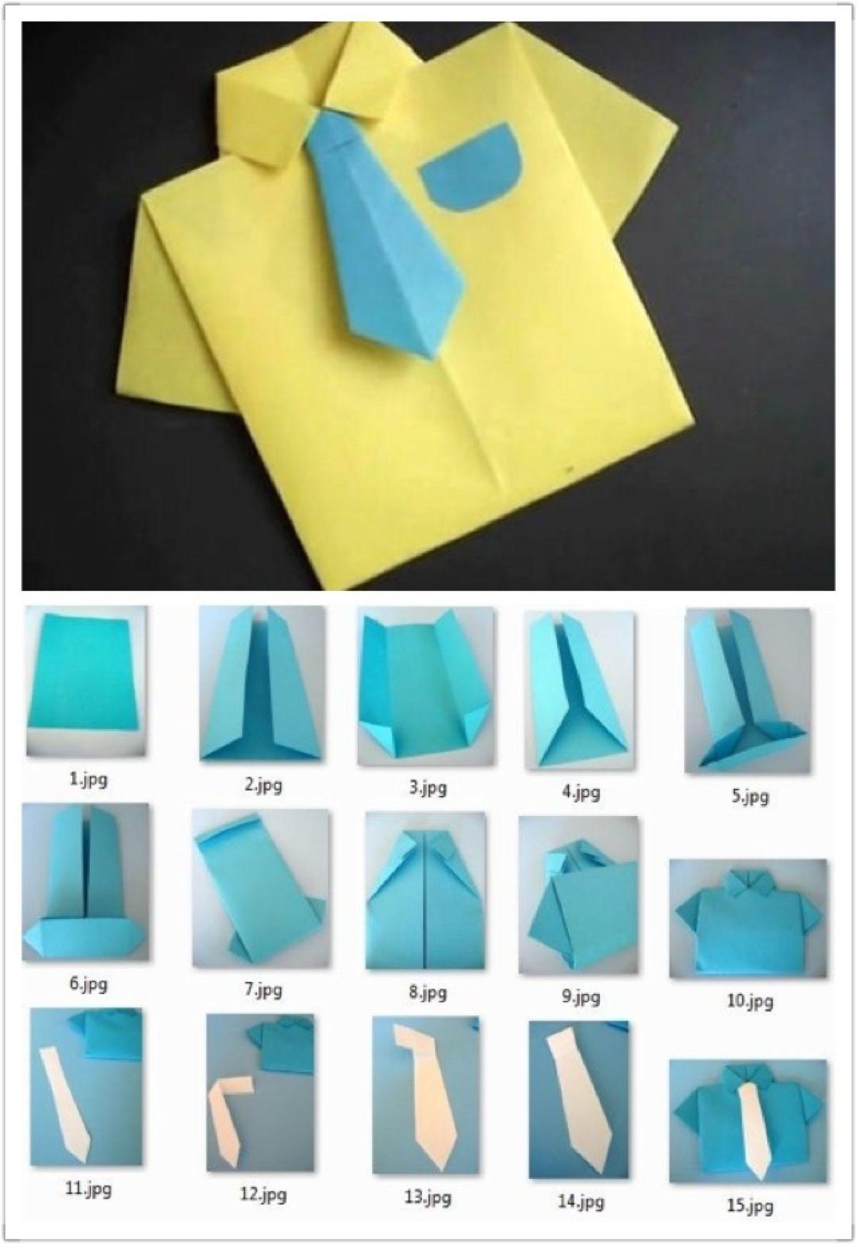 f9934a64b Camisa y corbata en origami