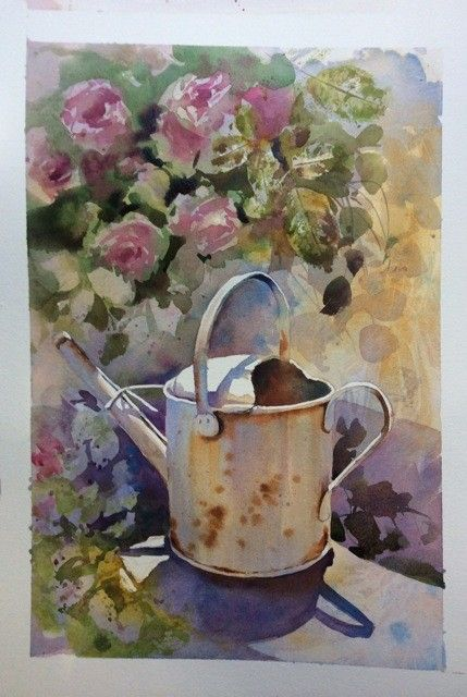 Aud Rye Beautiful watercolor painting