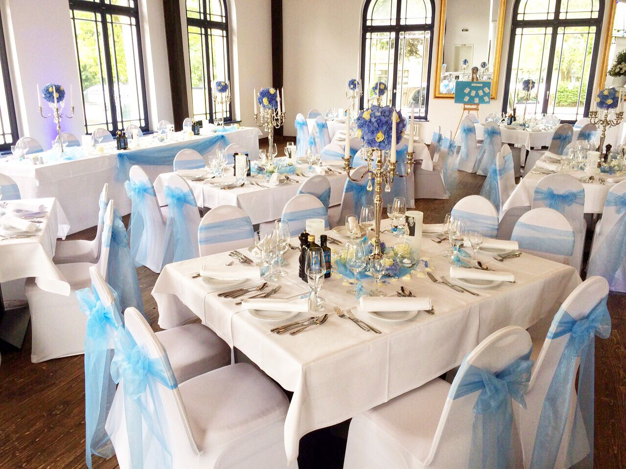 Hochzeitsdeko Hell Blau Weiss Princessdreams Hochzeitsdeko