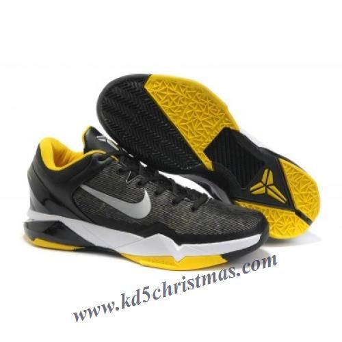 557e104f6fb2 Nike Zoom Kobe VII (7) Black White Del Sol Men s Basketball Shoes ...