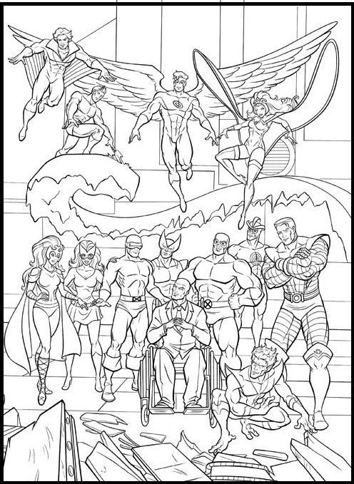 All Character From X Men Coloring Picture For Kids Desenhos