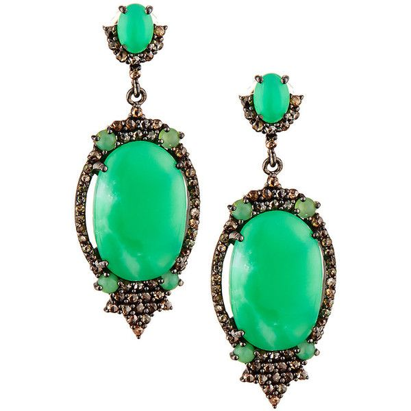Bavna Chrysoprase & Diamond Pavé Drop Earrings zHOUPvCA
